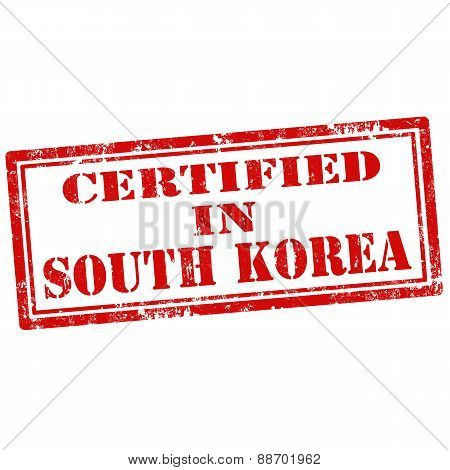 Certified In South Korea-stamp