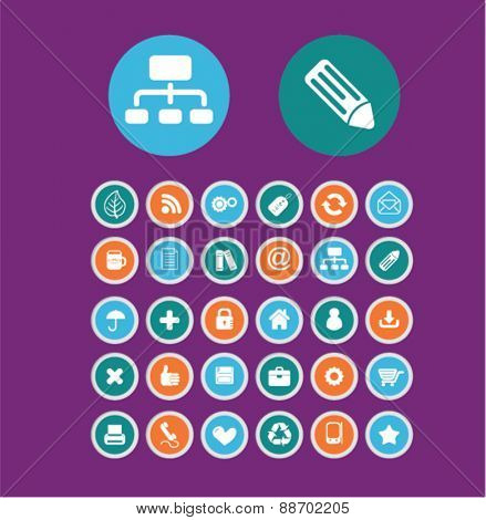 mobile, phone buttons, icons, signs, illustations set, vector for web, mobile application
