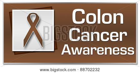 Colon Cancer Awareness Brown Ribbon Square