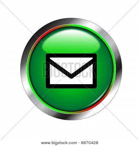 E-mail shiny green button
