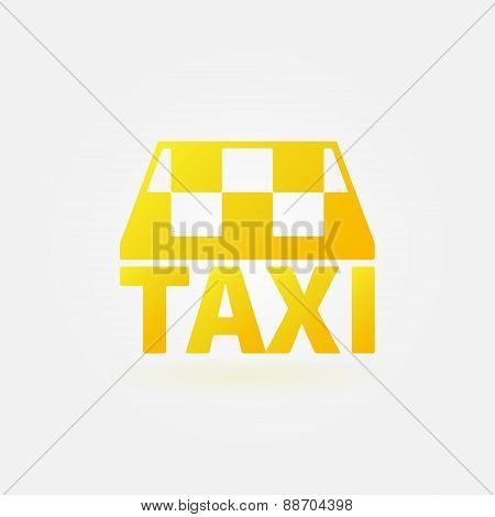 Taxi vector yellow icon or logo
