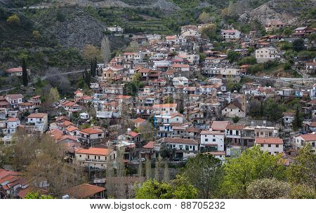 Mountain Village Of Palaichori At Troodos Mountains, Cyprus