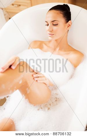 Taking Care Of Her Skin.