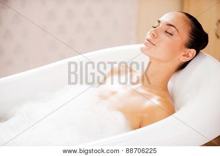 Beauty In Bubble Bath.