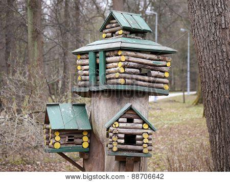 A multistorey birdhouse