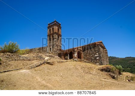 Ruins Of An Ancient Monastery At Almonaster La Real, Huelva, Andalusia, Spain
