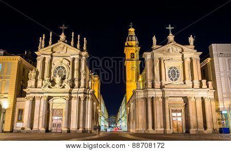Churches Of San Carlo And Santa Cristina In Turin, Italy