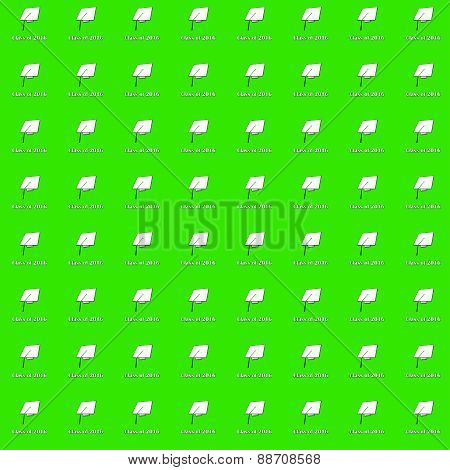 Class of 2016 White on Green Small Pattern