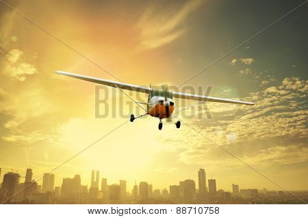 Propeller Plane Flying