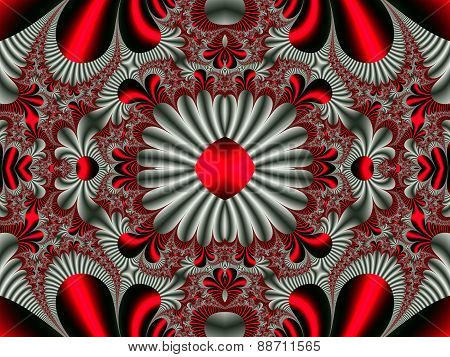 Fabulous Symmetrical Pattern For Background. Artwork For Creative Design, Art And Entertainment. Com