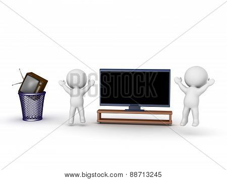 3D Characters Cheering For Hdtv