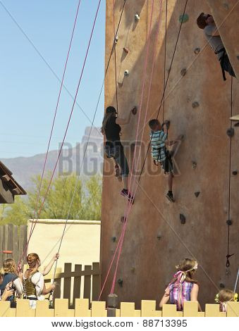 A Climbing Wall At The Arizona Renaissance Festival