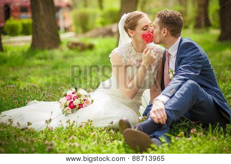 The Groom Kisses The Bride