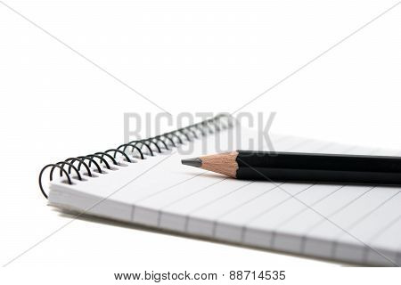 Pencil with notepad