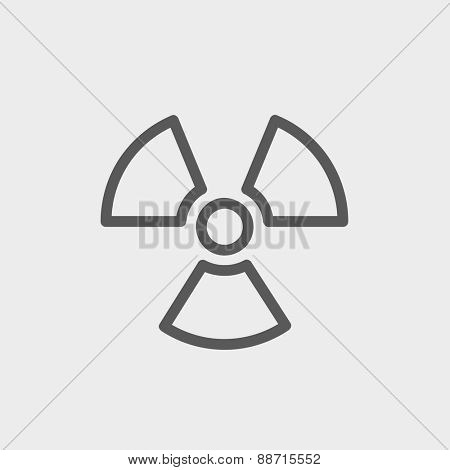 Propeller icon thin line for web and mobile, modern minimalistic flat design. Vector dark grey icon on light grey background.