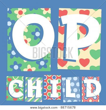 Vector set of cosy countryside children font. Letters O P
