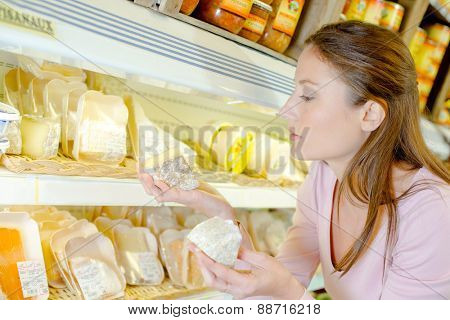 Cheese aisle at the supermarket