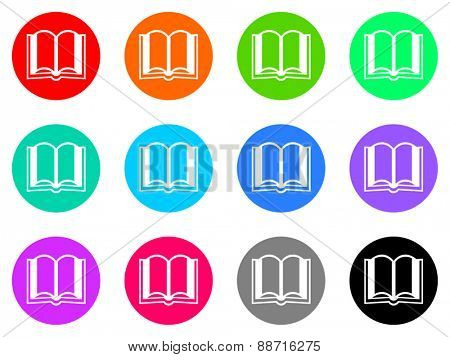 book vector icon set