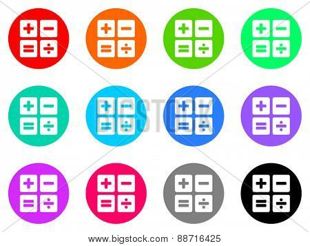 calculator vector web icon set