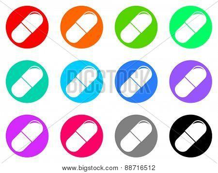 drugs vector web icon set