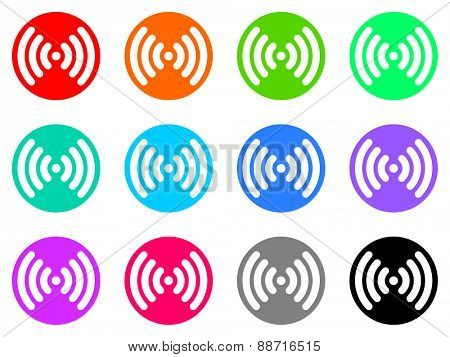 wifi vector web icon set