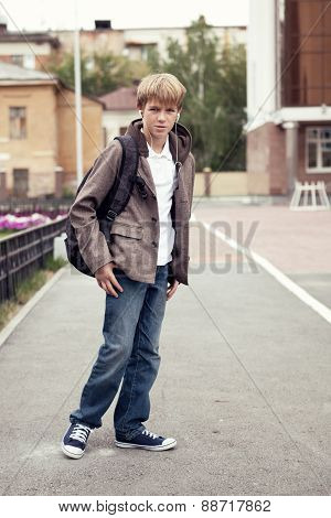 Portrait Of Teenager In  Jacket