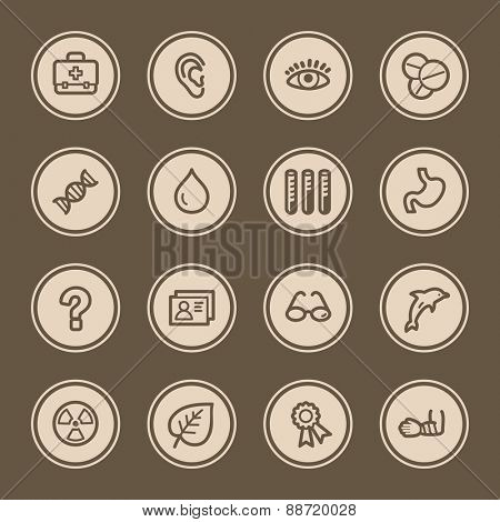 Medicine web icons set