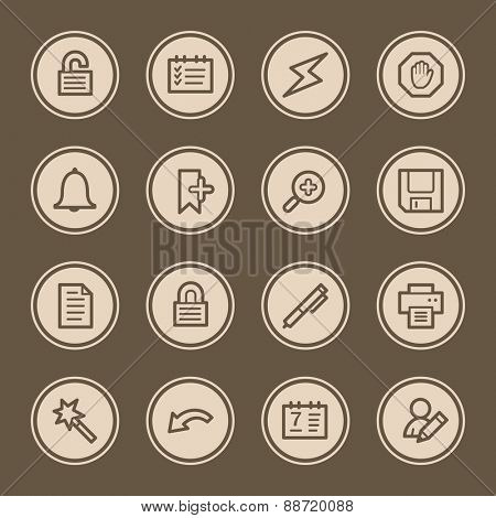 Organizer Web Icons Set