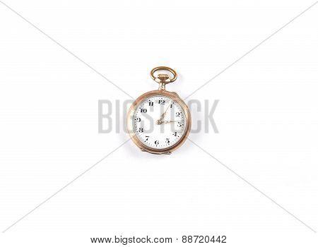 Pocket Watch On White