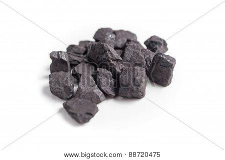 Coal isolated on white background.