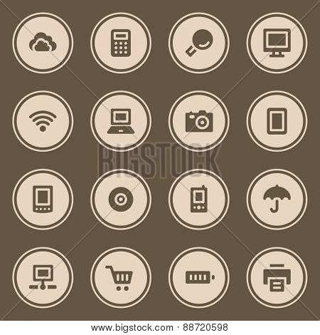 Cloud computing web icons set