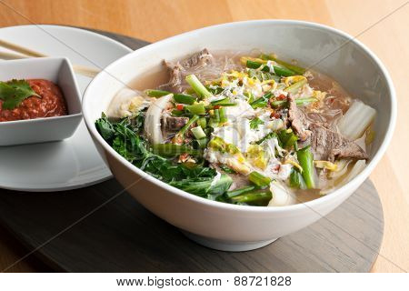 Thai Style Soup with Beef