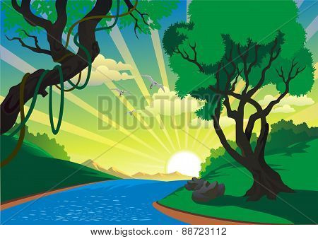 Landscape - The River In The Vector [