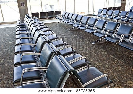 Vacant Airport Seating Area