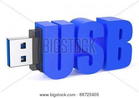 Blue Usb Flash Drive Ss 3.0