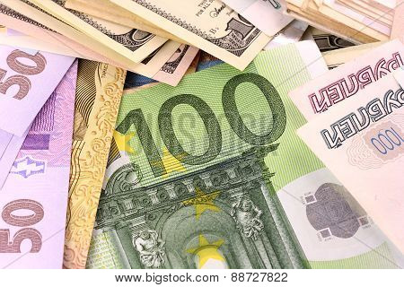 European Money Set Background