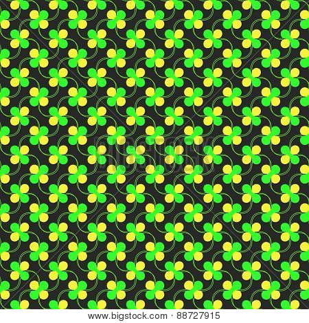 Colored Green And Yellow Spring Pattern