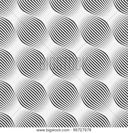 Gray Ornament Diagonal Bulging Shapes