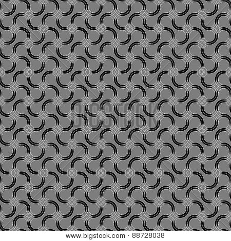 Gray Ornament With Offset Intersecting Rounded Shapes