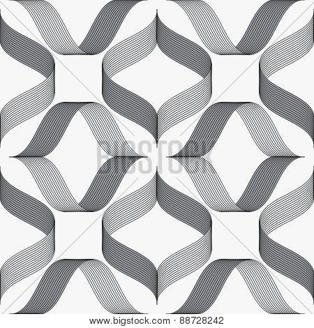 Ribbons Forming Rhombus Pattern
