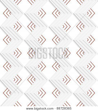 White Embossed Zigzag With Red