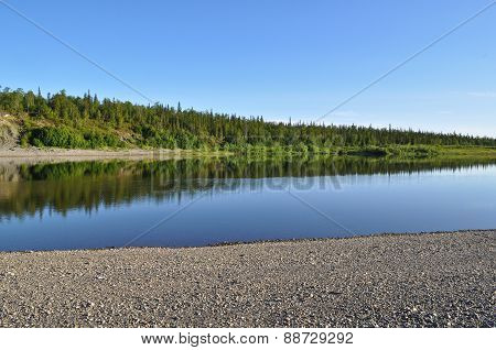 Ural River Under The Sun.