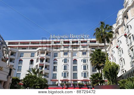 Hotel Majestic Barriere In Cannes At The Croisette