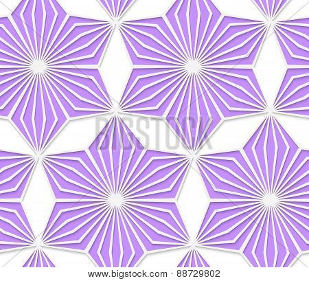 3D Colored Purple Geometrical Star