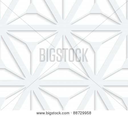 3D White Grid With Six Ray Stars