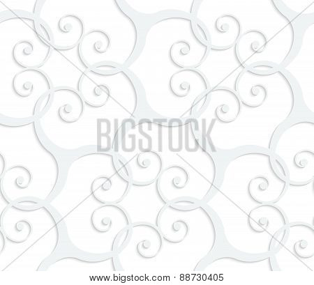 3D White Swirls Grid