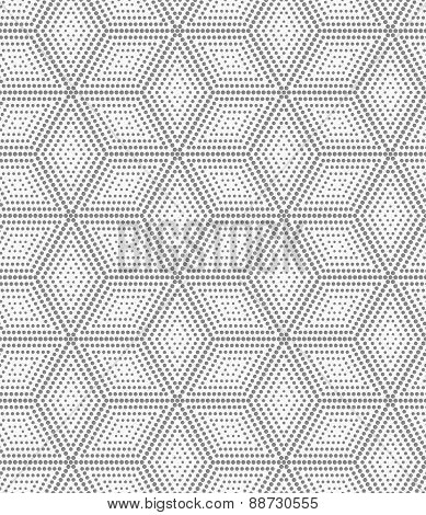 Gray Dotted Cubes With Offset