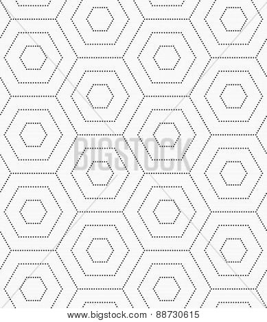 Gray Dotted Hexagons