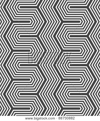 Monochrome Dark Hexagonal Zigzag