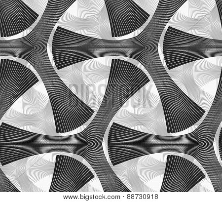 Monochrome Dark Striped Tetrapods